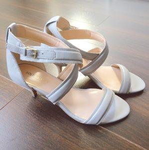 Sole Society Criss-cross Heels - Light Grey S7